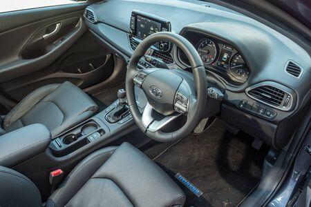 Hong Kong, China May, 2019 : Hyundai i30 Interior on May 31 2019 in Hong Kong. Redakční