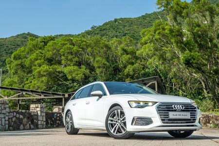 Hong Kong, China Oct, 2019 : Audi A6 Avant Test Drive Day on Oct 10 2019 in Hong Kong. Redakční
