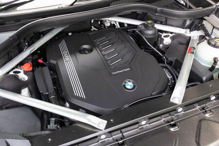 Hong Kong, China July, 2019 : BMW X7 Engine on July 26 2019 in Hong Kong.