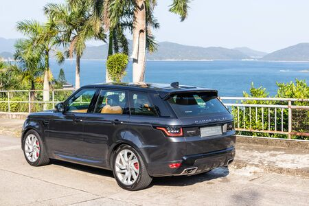 Hong Kong, China Oct, 2019 : Range Rover Sport Test Drive Day on Oct 15 2019 in Hong Kong.