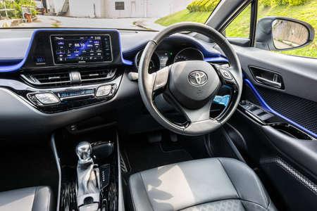 Hong Kong, China May 12, 2020 : Toyota C-HR Test Drive Day May 12 2020 in Hong Kong.