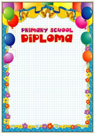 School diploma blank template