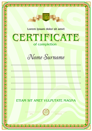 Certificate Blank Template Royalty Free Cliparts Vectors And Stock