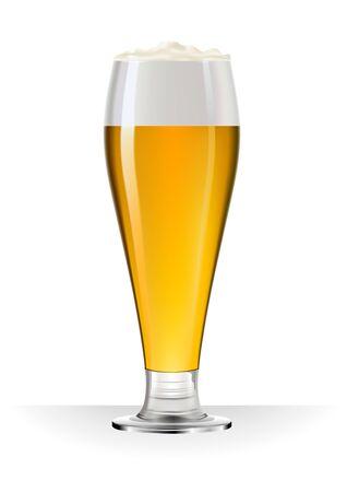 Tall beer mug isolated on white