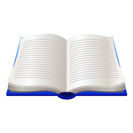 Opened book. Illustration isolated on white.