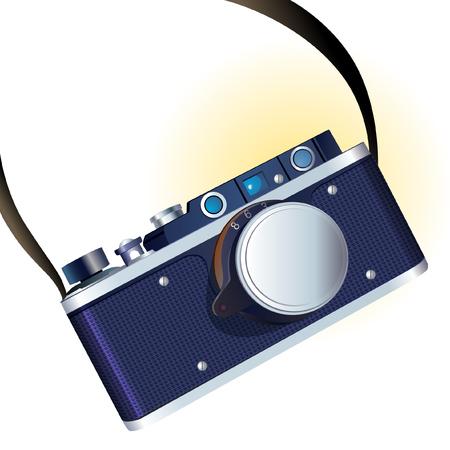 Retro photo camera illustration Banque d'images - 124269301