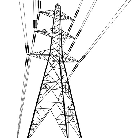 The power line construction