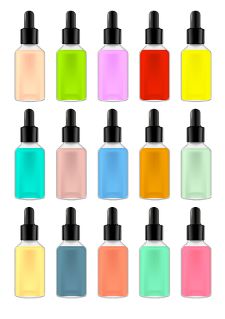 Bottles collection. Colors as a color isolated on white