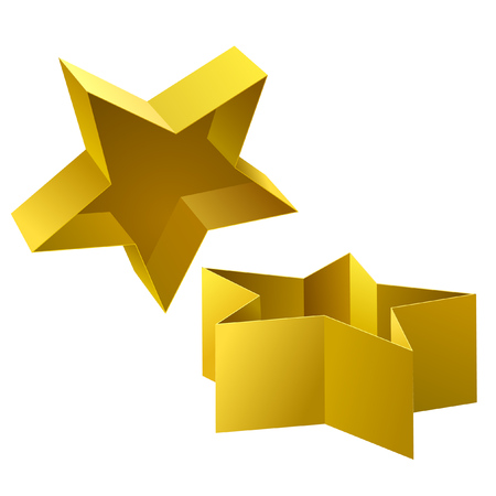 Icon of the opened box as a star shape.