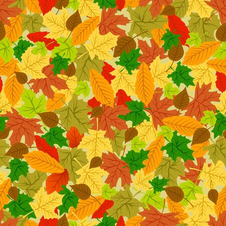 Seamless autumn leaves pattern for fabric print