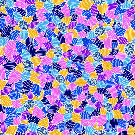 Decorative seamless pattern. Floristic subject idea.