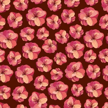 Flower seamless pattern for fabric print design.