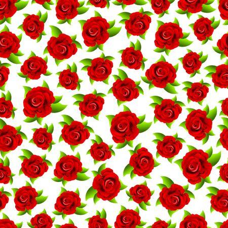 Seamless pattern. Design with red floral elements for paper Ilustração