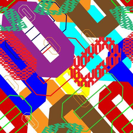 Simple polygonal colorful pattern for fabric print design.
