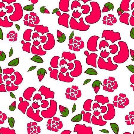 Seamless floral pattern for fabric print design.