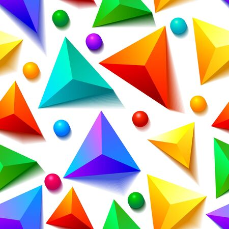 seamless triangle and dots pattern