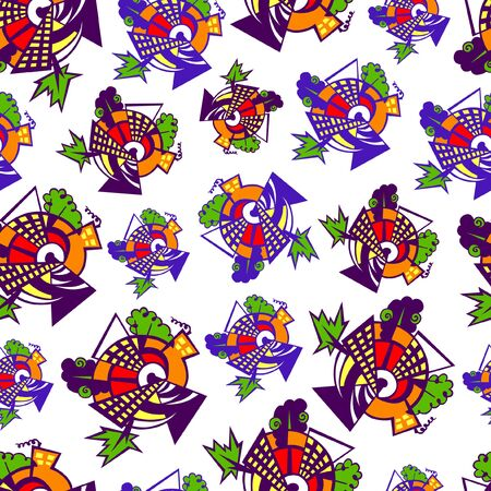 Seamless pattern of the  geometrical elements.