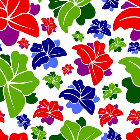 Seamless floral colorful pattern for fabric or paper print design