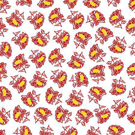 seamless pattern: decorative flower element 向量圖像