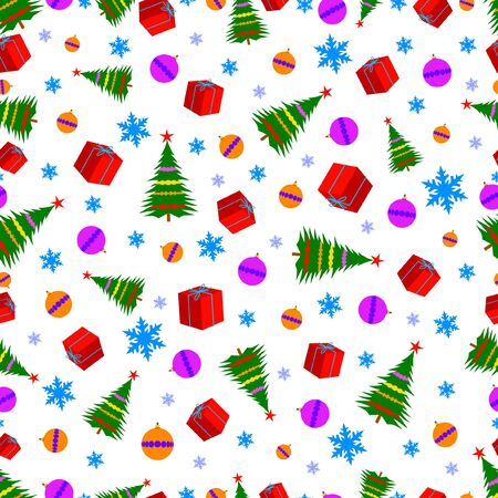 Funny colorful design seamless pattern