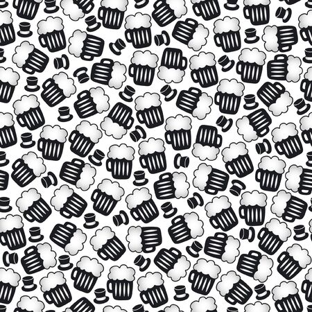 Seamless pattern designed of simple objects