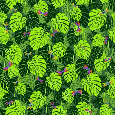 Tropical Monstera leaves.