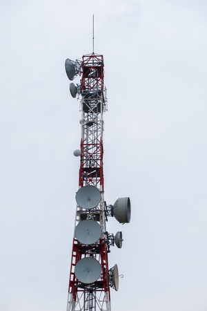 Communications Tower of cellular net and television