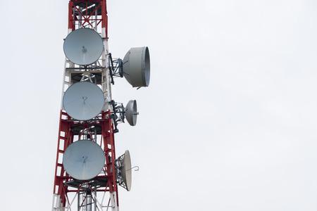 通信: Communications Tower of cellular net and television
