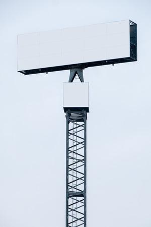 hoarding: Blank Billboard Hoarding Stock Photo