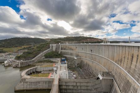 View of the Alqueva dam, Portugal