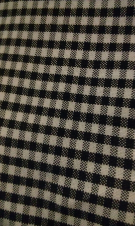cotton fabric: black and white fabric Stock Photo