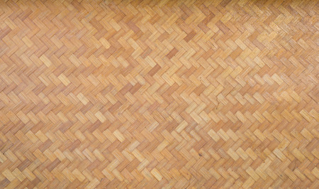 Bamboo woven matt closeup Stock Photo