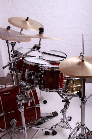 drums: red drumkit
