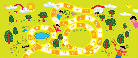 board game illustration Ilustracja