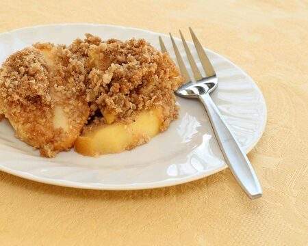 delicious apple crisp dessert ready to eat