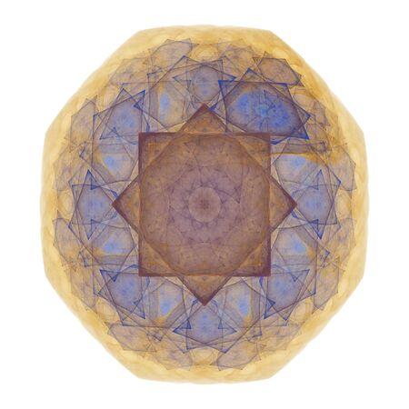 octogonal: resumen octogonal azul, burdeos y oro, mosaicos de azulejos y baldosas  Foto de archivo
