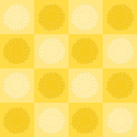 checkerboard backdrop: light and dark sunflowers in a checkerboard pattern