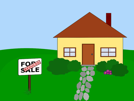 house for sale at reduced price Vector