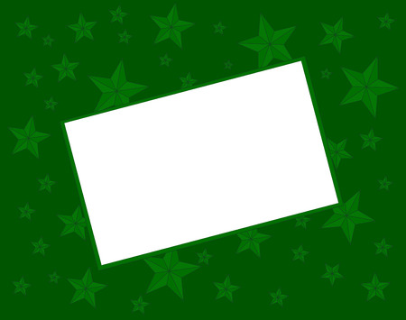 green Christmas background with bevelled stars and white text area