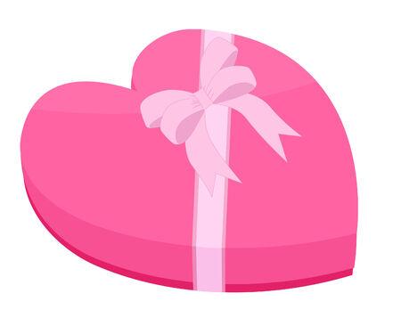Rosa a forma di cuore regalo con nastro e prua Archivio Fotografico - 3774595