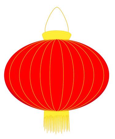 Rode lantaarn voor Chinees Nieuwjaar vieringen Stock Illustratie