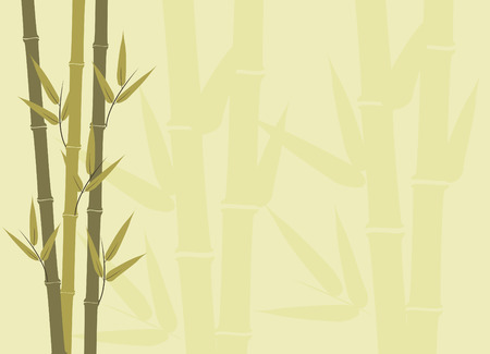 Illustration of bamboo stalks with subtle larger subtle stalks in background Vector