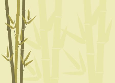 Illustration of bamboo stalks with subtle larger subtle stalks in background
