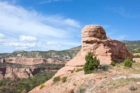Natural rock formation in Colorado National Monument Foto de archivo