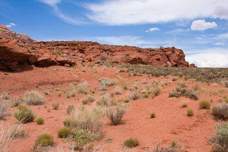 desert valley of red sand near Moab Utah
