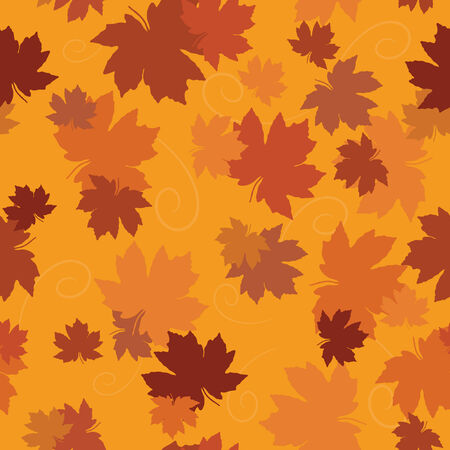 seamless maple leaf background in autumn colours