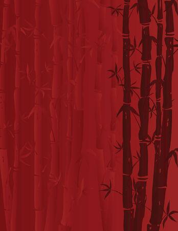 afbeelding van bamboe stengels op rode achtergrond