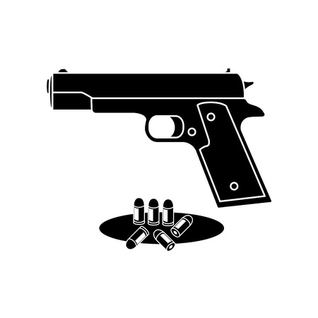ammunition: Guns and ammunition icon. Icons weapons.