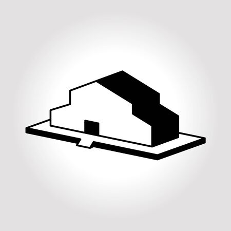 warehouse building: Warehouse icon illustration. Building icons illustration. Illustration icon barn.