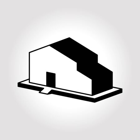 warehouse building: Warehouse icon illustration. Building icons illustration.